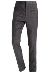 Kiomi Suit Trousers Grey Melange Mottled Grey