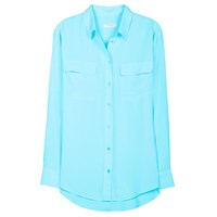 Equipment Signature Blouse Light Teal