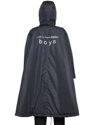 Comme Des Garcons Hooded Techno Padded Poncho