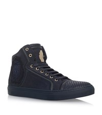 Billionaire Crest High Top Sneakers Male Navy