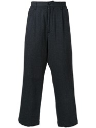 Gold Herringbone Wide Trousers Grey