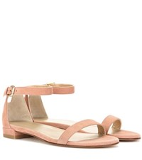 Stuart Weitzman Nudistflat Leather Sandals Pink