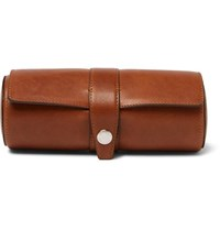 Brunello Cucinelli Burnished Leather Watch Roll Tan