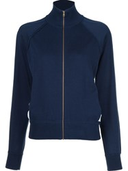 Chloe Zipped Cardigan Blue