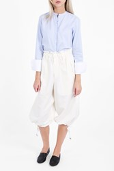 Helmut Lang Women S Elastic Waist Cuffed Culottes Boutique1 Ivory