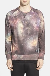 Eleven Paris 'West' Print Raglan Crewneck Sweatshirt Brown