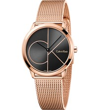 Calvin Klein K3m22621 Rose Gold Plated Stainless Steel Watch