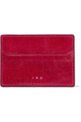 Iro Leather Cardholder Crimson
