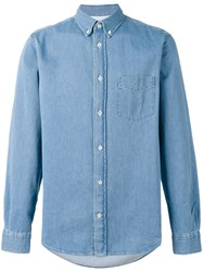 Acne Studios Button Up Denim Shirt Blue