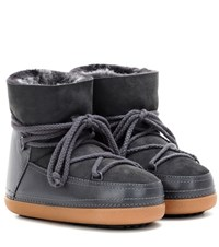 Inuikii Classic Low Fur Lined Leather Boots Grey