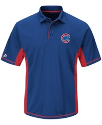 Majestic Men's Chicago Cubs Top Of The Inning Polo Royalblue