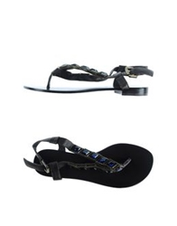 Bryan Blake Thong Sandals Dark Brown