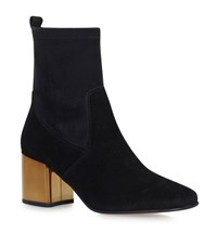 Carvela Kurt Geiger Slick Contrast Heel Ankle Boots Female Black