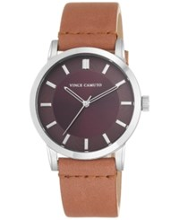 Vince Camuto Women's Womens Tan Leather Strap Watch 42Mm Vc 1079Bysv