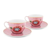 Pip Studio Spring To Life Cappuccino Cup And Saucer Set Of 2 Pink