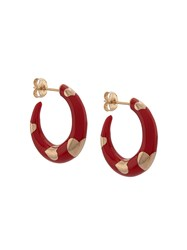 Alison Lou 14Kt Yellow Gold Petite Armour Heart Hoops 60