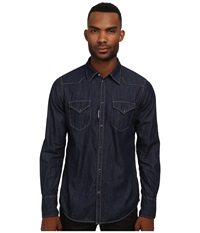 Dsquared Western Denim Button Up Shirt