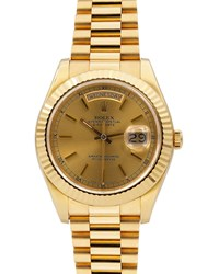 Rolex Pre Owned 36Mm 18K Presidential Day Date Automatic Bracelet Watch Gold