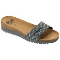 Scholl Lunwin Thin Strap Mule Sandals Dark Grey