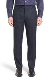 Ted Baker 'Cabtro' Classic Fit Flat Front Pants Blue