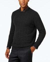 Tasso Elba Men's Big And Tall Chevron Sweater Only At Macy's Deep Black