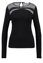 Morgan Tspora Long Sleeved Top Noir Black