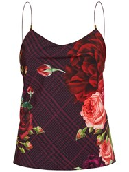 Ted Baker Klisha Juxtapose Rose Cami Top Black