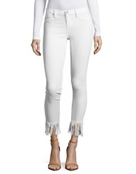 Blank Nyc Distressed Cropped Jeans White