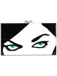 Charlotte Olympia Paper Cut Pandora Clutch Polyester Multicolour