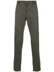 Dondup Relaxed Fit Chinos Green