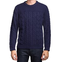 Gant Rugger Classic Blue Chunky Cable Sweater