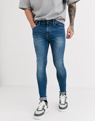 New Look Spray On Jeans In Light Blue Wash