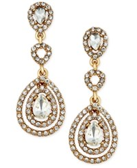 Charter Club Gold Tone Crystal And Pave Orbital Drop Earrings Only At Macy's