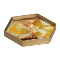 Notre Monde Yellow Organic Mini Glass Tray