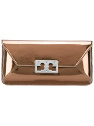 Tory Burch Envelope Clutch Brown