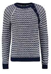 United Colors Of Benetton Jumper Navy White Dark Blue