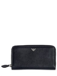Emporio Armani Saffiano Leather Zip Around Wallet