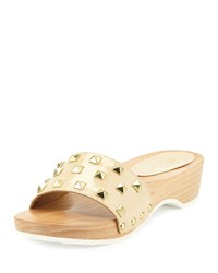 Sesto Meucci Stephy Studded Patent Clog Nude