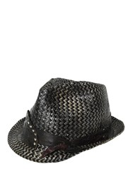 Move Vintage Effect Two Tone Woven Straw Hat