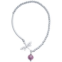 Martick Murano Glass Dragonfly Bracelet Silver