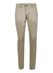 Topman Green Kahki Stretch Skinny Fit Chinos