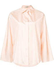 Nina Ricci Oversized Shirt Silk Pink Purple