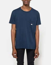 Quality Peoples Sun Logo Pocket T Shirt Dark Navy