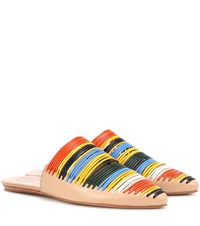 Tory Burch Sienna Leather Slippers Multicoloured