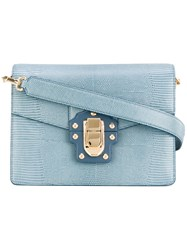 Dolce And Gabbana Lucia Shoulder Bag Women Calf Leather One Size Blue