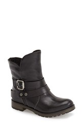 Women's Naturalizer 'Talley' Engineer Boot Black Leather