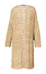 Ralph Lauren Long Sleeve Crochet Cardigan Neutral
