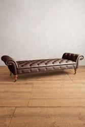 Anthropologie Premium Leather Olivette Daybed Bourbon