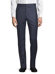 Todd Snyder Flat Front Wool Trousers Navy