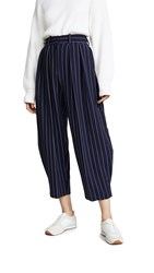 See By Chloe Pinstripe Trousers Blue White